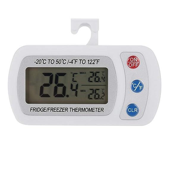 Compra Nancunhuo Frigorífico Termómetro-Cocina Refrigerador LCD ...