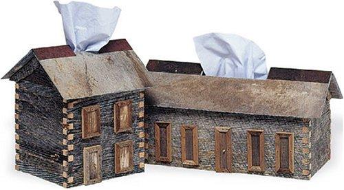 Log Cabin Tissue Box - Regular Size