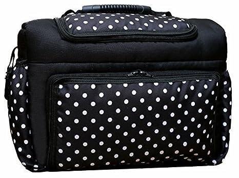 Bolsa cambiador con accesorios KIM de Baby-joy XXXL patrones de vestidos para tallas colour blanco y negro puntos bolsa para pañales sucios cuidado bebé ...