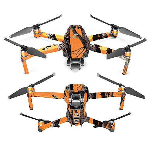 MightySkins Skin for DJI Mavic 2 Pro or Zoom – Orange Camo | Protective, Durable, and Unique Vinyl Decal wrap Cover | Easy to Apply, Remove, and Change Styles | Made in The USA