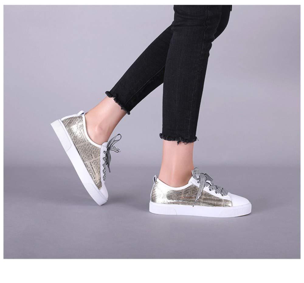 ZHIJINLI Casual Turnschuhe weiße Schuhe Bogen Schuhe Frauen Frauen Frauen Brief Schuhe flach, 5 GRÖSSE  e5ae2b