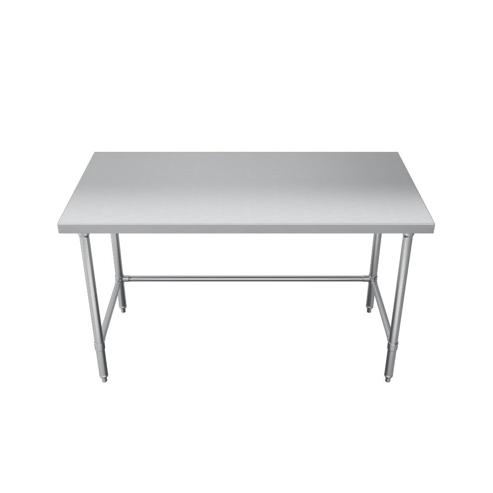 Elkay Foodservice Chef's Choice Work Table, 24''X84'' OA, 36'' Working Height, Flat Top, Galvanized Cross Brace, Turned Down Table Edge, Galvanized Legs With Adjustable 1'' Feet, 16 Gauge 300 Series Stainless Steel, NSF Certified by Elkay Foodservice (Image #3)