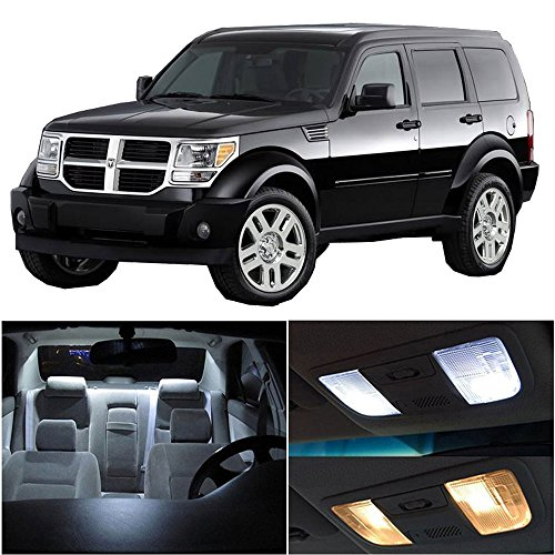 cciyu 15 Pack White LED Bulb LED Interior Lights Accessories Replacement Package Kit Replacement fit for 2007-2011 Dodge Nitro