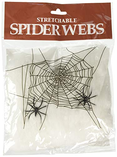 HALLOWEEN SPIDER WEBS & WEBBING + Spiders - 3 Pack -