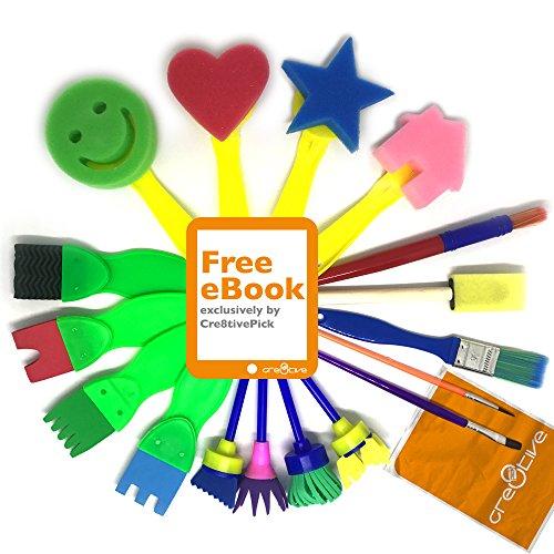Fingermax Paintbrushes 4 Brush Pack Universal Size
