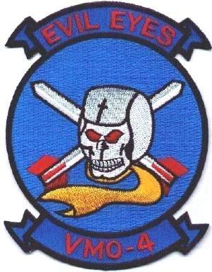 USMC Aviation Squadron VMO-4 EVIL EYES Patch Marine ()