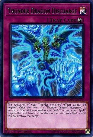1st Edition Yugioh Thunder Dragon Fusion SOFU-EN060 Ultra Rare
