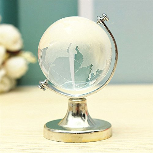 (Figurines Miniatures - Glass Plastic Transparent World Globe Crystal Clear Desk Decor Wedding Favor Tellurion Ornaments - Xc60 Globe World Shui Crystal Bird Feng World Wealth Crystal Jewelry)