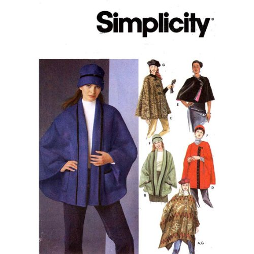 Simplicity 5309 - Cape Capelet Poncho Hat Sewing Pattern Size A: Sm to Lg ()