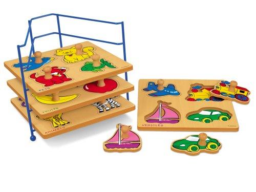 Wire Puzzle Storage Rack (Lakeshore Big Knob First Puzzle Set)