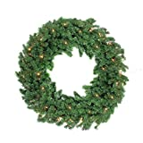 48'' Pre-Lit Deluxe Windsor Pine Artificial Christmas Wreath - Clear Lights