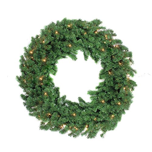 48'' Pre-Lit Deluxe Windsor Pine Artificial Christmas Wreath - Clear Lights by Northlight