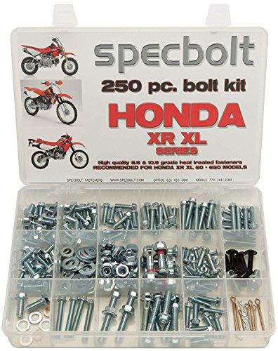 Specbolt Fasteners 250pc Bolt Kit: Honda - XR XL Series Dirtbike ()