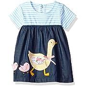 Mud Pie Baby Girls' Casual Playwear Sun Dress, Goose, 6-9 Months