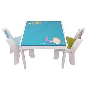 Labebe Kindertisch Holz, Weiß Fuchs Baby Tisch Stuhl Für 1 5