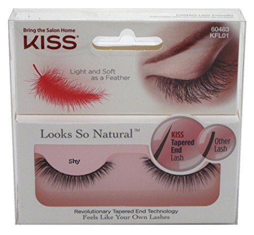 6b05f9c09d3 Amazon.com : Kiss Looks So Natural Lashes Shy (6 Pack) : Beauty
