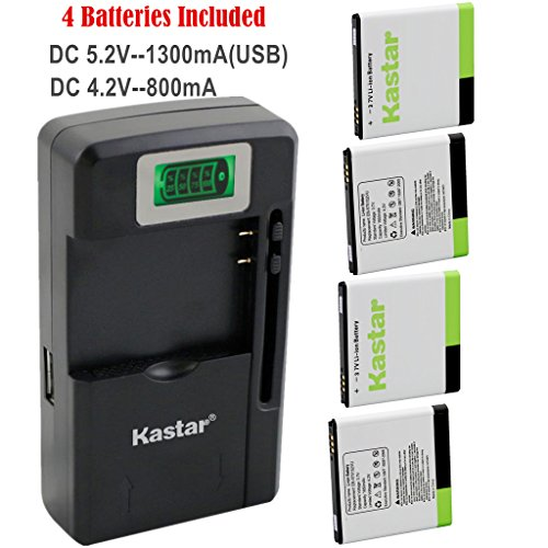 Samsung Captivate I897 Lcd - Kastar Galaxy S1 Battery (4-Pack) and intelligent mini travel Charger ( with high speed portable USB charge function) for Samsung Galaxy S, S1, S I, Vibrant T959, i9000, i9001, Captivate i897, Focus i917, Captivate Glide i927, Epic 4G D700 AT&T, T-Mobile, Sprint, Verizon Smartphone Fit EB575152, EB575152VA, EB575152VU, EB575152LA, EB575152LU, EB575152LAB --Supper Fast and from USA