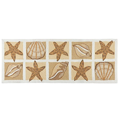 Nourison Nautical Beach Seashells Hand-Hooked Area Rug, 20