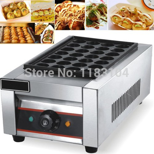 220v Electric Japanese Grilled Octopus Takoyaki Maker Machine Baker Iron Mold by ANGELGARDEN