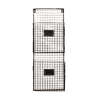 Pewter Metal Wall Double File Holder
