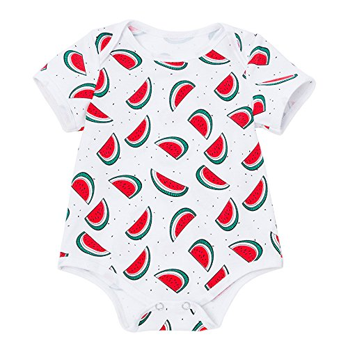 (Lurryly Infant Baby Boys Girls Watermelon Print Rompers Outfits Clothes 0-18 M)