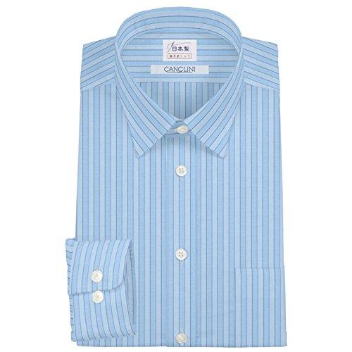 ワイシャツ 軽井沢シャツ [A10KZR192]レギュラーカラー ショートポイント 純綿 CANCLINI(カンクリーニ) らくらくオーダー受注生産商品 B078D6T4K6 首回り:47 裄丈:90|標準型 標準型 首回り:47 裄丈:90