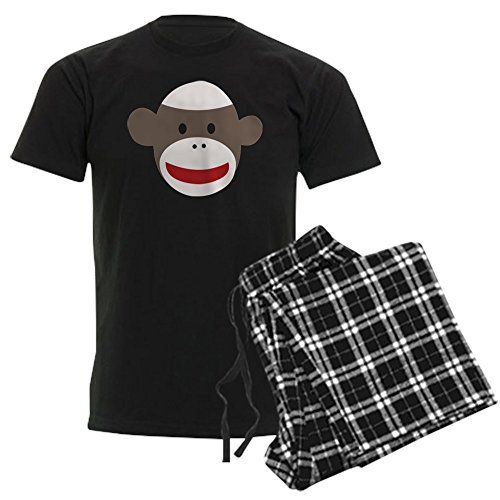 CafePress Sock Monkey Face Unisex Novelty Cotton Pajama Set, Comfortable PJ Sleepwear]()