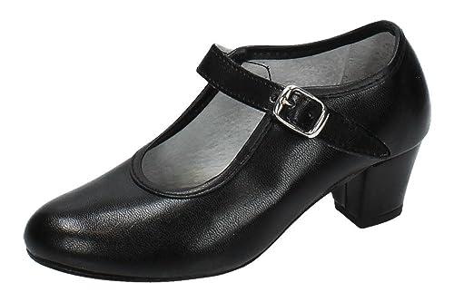 MADE IN SPAIN Zapato Baile de Tacón Para Niña y Señora Carolina Guillo EN Negro Talla 26 ONJdQ9m9p