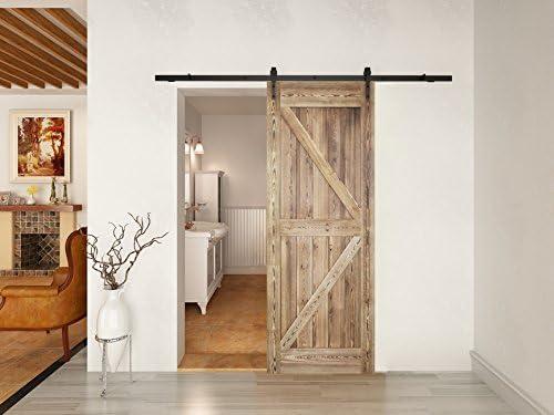 Panel de madera reclinable para puerta corredera interior de comedor, 36/42 pulgadas x 84 pulgadas, kit de herramientas para puerta corredera: Amazon.es: Bricolaje y ...