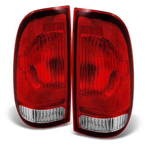 For Ford F-150 & Super Duty Pickup Rear Tail Lights Tail Lamps Red Clear Replacement Left + Right Pair