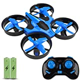 JoyGeek Mini Drone for Kids, RC Quadcopter with 2.4G 4CH 6 Axis Headless Mode, 360° UFO Mini Quadcopter Drone, Flips & Rolls Remote Control One Key Return Helicopter (Blue)