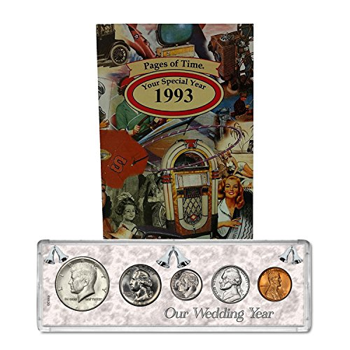 1993 Year Coin Set & Greeting Card : 25th Anniversary Gift - Our Wedding Year