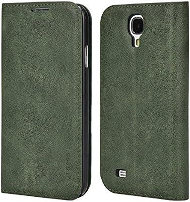 Mulbess Funda Samsung Galaxy S4 [Libro Caso Cubierta] Slim de Billetera Cuero de la PU Carcasa para Samsung Galaxy S4 Case, Verde: Amazon.es: Electrónica