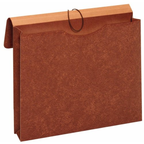 Globe-Weis/Pendaflex Letha-Tone File Envelopes with Elastic Closures, 2-Inch Expansion, Letter Size, Brown, Box of 24 (MM30)
