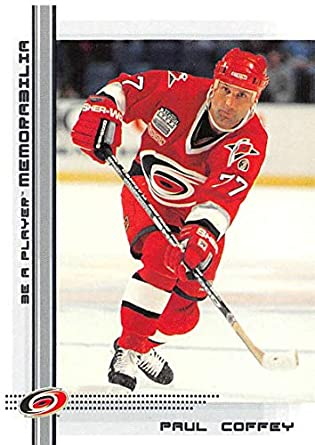 2000-01 Be A Player Memorablia Hockey  221 Paul Coffey Carolina Hurricanes  Official Trading 8b07f8e4d