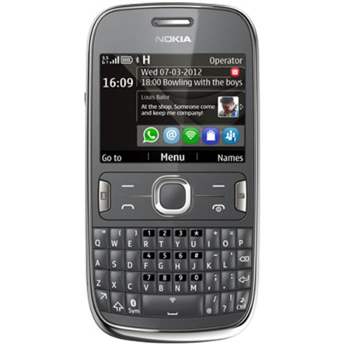 Nokia Asha 302 Unlocked GSM Phone with 3.2MP Camera, Video, QWERTY Keyboard, Wi-Fi, Bluetooth, FM Radio, SNS Integration, MP3/MP4 Player and microSD Slot - Gray (International Version)