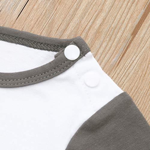e430f800a NUWFOR Newborn Infant Kids Baby Boys Outfits Letter Print Romper Jumpsuit+ Pants+Hat Set