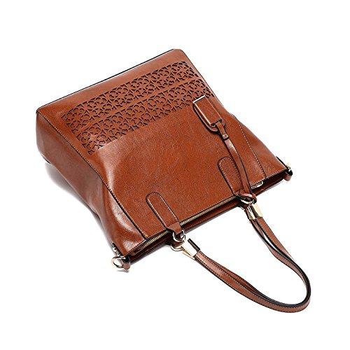 Handtaschen Handtaschen Aushöhlen Umhängetasche Frauen Brown Occasionnels KLXEB Schultertasche Designer tvw5Z