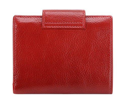 Wittchen Brieftasche | Farbe: Rot| Material: Narbenleder| Größe: 12x9,5 CM, | Orientierung: Horizontal | Kollektion: Italy| 21-1-362-3