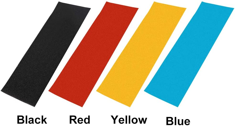 LUNAH Grip Tape Sheet Keine asen Perforiertes Deck Elektroroller Skateboards Raue Anti-Rutsch-Aufkleber Sandpapier PVC Professionelle Teile Blau