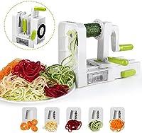 Affettaverdure a spirale di verdure, Sedhoom pieghevole a spirale affettatrice, Best Zucchini noodle & Veggie pasta e spaghetti Maker for low carb//paleo gluten-free meals