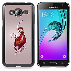 - Mouse & Man - - Cubierta del caso de impacto con el patr??n Art Designs FOR Samsung Galaxy J3 Queen Pattern