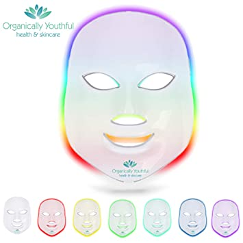 In Style; 100% True Led Mask Beauty Device Home Photon Skin Rejuvenation Whitening Blemish Led 7 Colors Light Skin Care Beauty Mask Facial 40 Fashionable