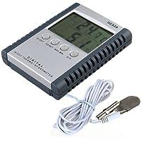 Medidor digital electrónico temperatura humedad para exterior interior