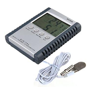 Medidor digital electrónico temperatura humedad para exterior interior hogar negocio: Amazon.es: Hogar