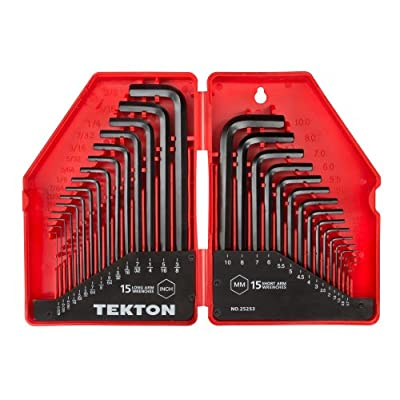 TEKTON Hex Key Wrench Set, 30-Piece (.028-3/8 in, 7-10 mm) | 25253