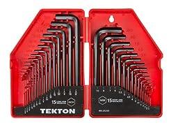 TEKTON Hex Key Wrench Set, 30-Piece (.02...
