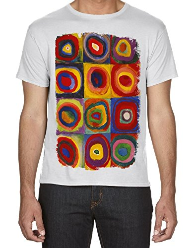 Wassilly Kandinsky Colour Study Square With Concentric Circles Large Print Men's T-Shirt (3XL, White) (Kandinsky Colour Study)