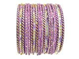 Lovely Lavender Indian Glass Bangles Bollywood Belly Dance Bracelets 2.6 S