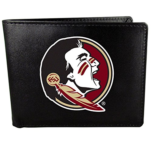 Card Florida State Credit (NCAA Florida State Seminoles Bi-Fold Wallet Large Logo, Black)